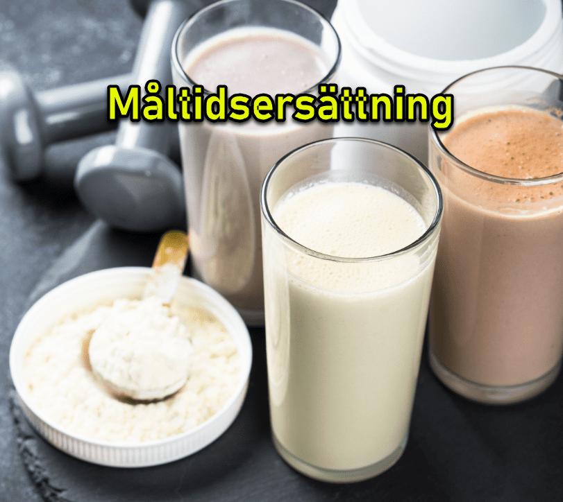 måltidsersättning, viktminskningspaket, pulverdiet och bantningspulver