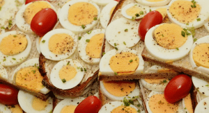 ägg ingår i proteinrik frukost