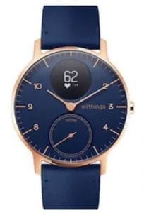 withings steell hr blue