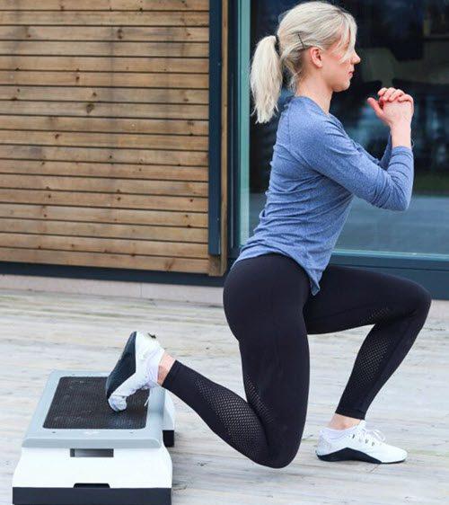 abilica step up pro övning med träningspall / stepup bräda